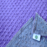 Signature Minky Baby Blanket Charcoal Gray Collection