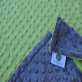Apple Green and Gray Baby Blanket