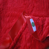 Red Paisley Blanket With Trim