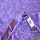 Purple Paisley Blanket with Trim