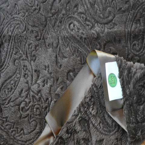 Brown Paisley with Satin Trim
