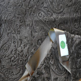 Brown Paisley Blanket with Satin Trim