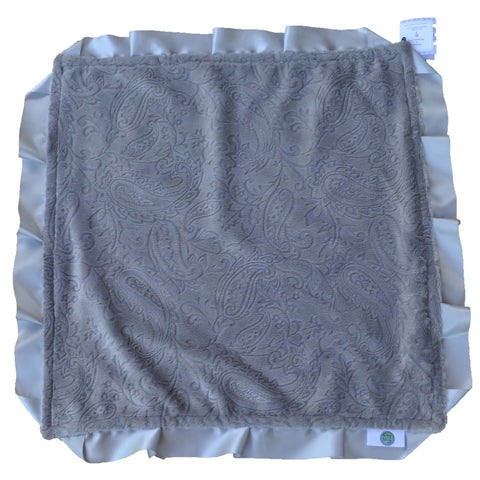 Gray Paisley Security Blanket
