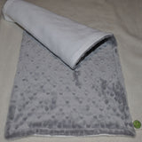 Silver Minky Burp Cloth