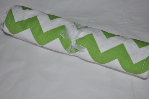 1 Chevron Cotton Burp Cloth Bright Green with Minky