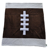 Football Baby Blanket Brown