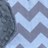 Chevron Bib With Minky Back