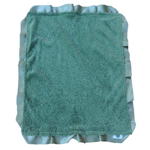 Green Paisley Security Blanket