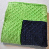 Navy and Lime Minky Baby Blanket