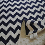 Chevron Baby Blanket Navy Blue