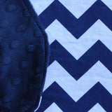 navy blue chevron with blue minky