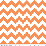 Chevron Blanket Orange with White Minky