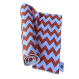 Orange and White Chevron Baby Blanket