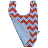 Orange Chevron with White Minky