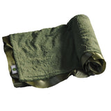 Green Paisley Blanket with Satin Trim