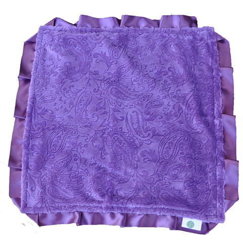 Purple Paisley Security Blanket