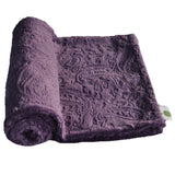Purple Paisley Baby Blanket