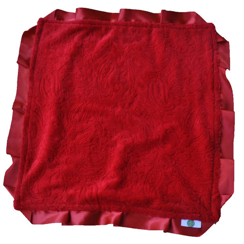 Red Paisley Security Blanket