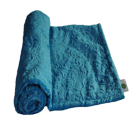 Paisley Baby Blanket Turquoise Blue