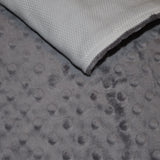 Charcoal Gray Burp Cloth