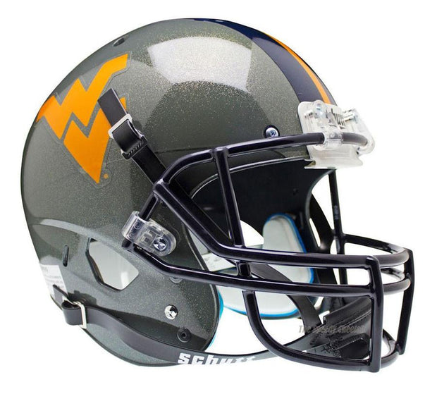 West Virginia Mountaineers Grey Schutt XP Full Size Replica Football Helmet