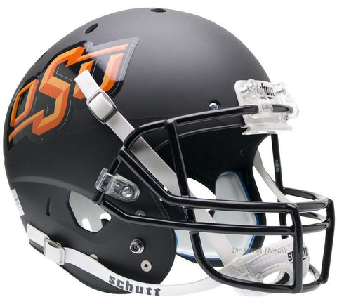 OK State Cowboys Matte Black Schutt XP Replica Football Helmet