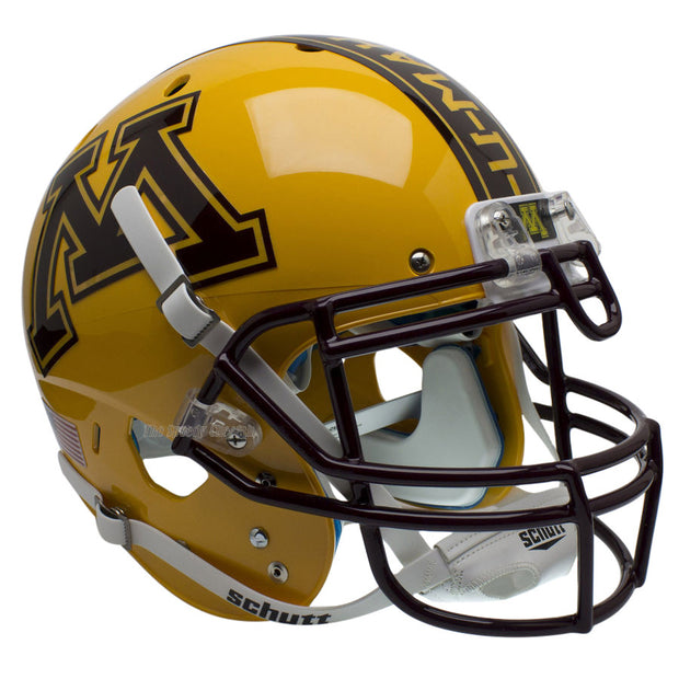 Minnesota Golden Gophers Gold Schutt XP Authentic Football Helmet