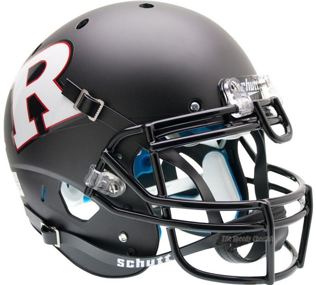 Rutgers Scarlet Knights Black White Schutt XP Authentic NCAA Football Helmet