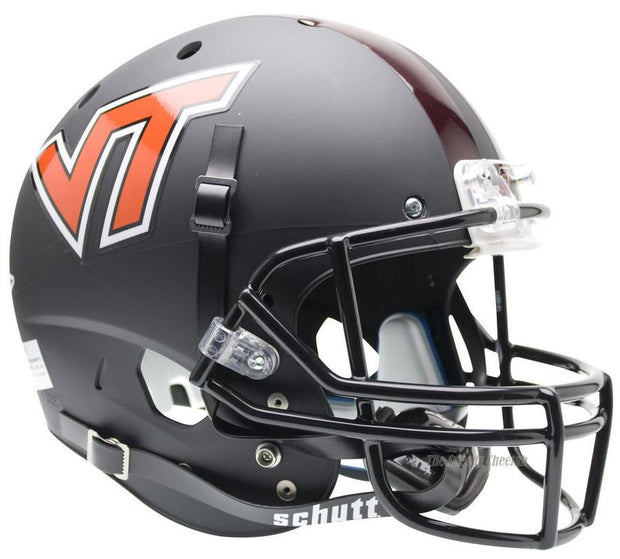 Virginia Tech Hokies Black Schutt XP Full Size Replica Football Helmet