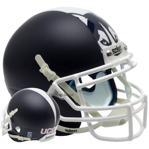 Connecticut Huskies Matte Blue Schutt XP Authentic Football Helmet
