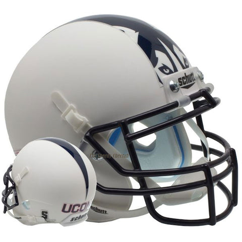Connecticut Huskies Matte White Schutt XP Replica Football Helmet