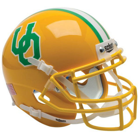 Oregon Ducks 84-94 Yellow Throwback Schutt XP Authentic Football Helmet