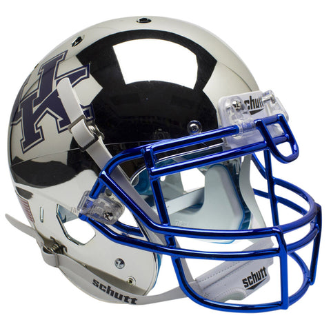 Kentucky Wildcats Chrome Silver Schutt XP Authentic Football Helmet