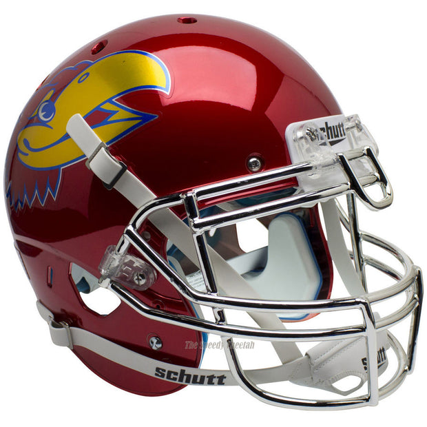 Kansas Jayhawks Scarlet Chrome Schutt XP Authentic Football Helmet