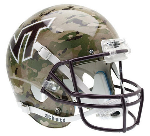 Virginia Tech Hokies Camo Schutt XP Full Size Replica Football Helmet