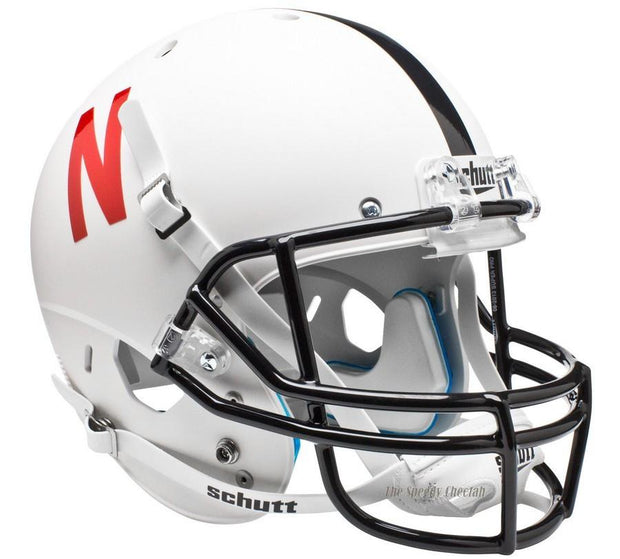 Nebraska Cornhuskers White Schutt XP Full Size Replica Football Helmet