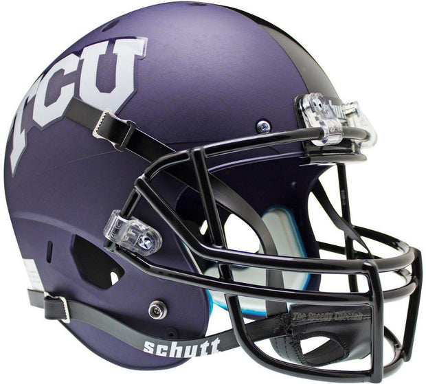 TCU Horned Frogs Purple Crosshatch Schutt XP Full Size Replica Football Helmet
