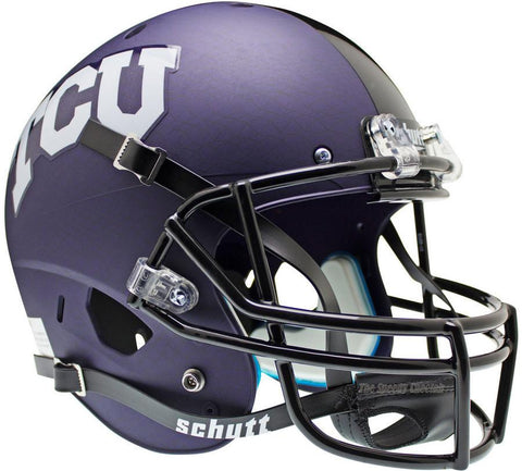 TCU Horned Frogs Purple Crosshatch Schutt XP Replica Football Helmet