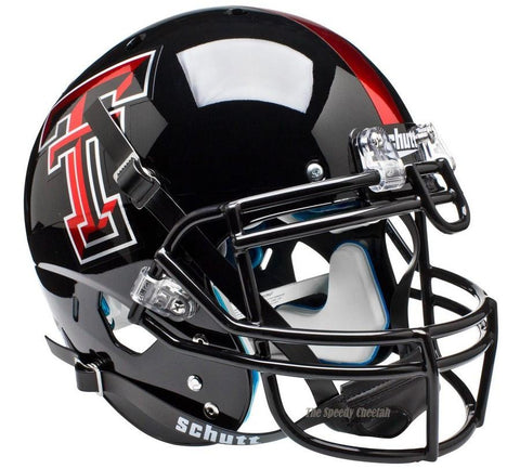 Texas Tech Red Raiders Chrome Logo Schutt XP Authentic Football Helmet