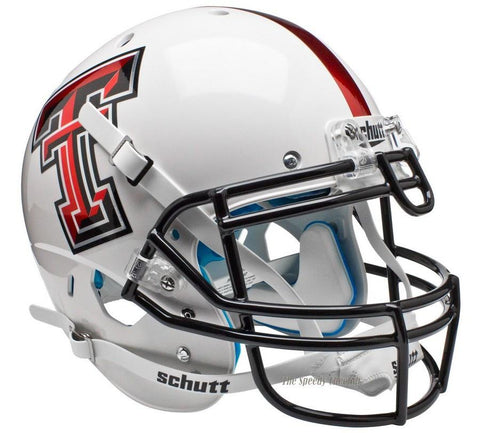 Texas Tech Red Raiders White Alt 5 Schutt XP Authentic Football Helmet