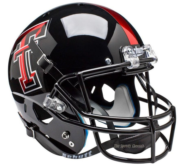 Texas Tech Red Raiders Chrome Logo Schutt XP Full Size Replica Football Helmet