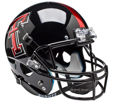 Texas Tech Red Raiders Chrome Logo Schutt XP Replica Football Helmet