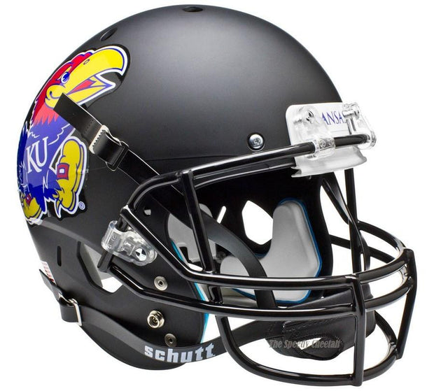 Kansas Jayhawks Black Schutt XP Full Size Replica Football Helmet