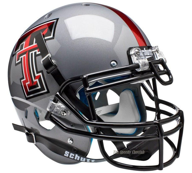 Texas Tech Red Raiders Gray Schutt XP Authentic NCAA Football Helmet