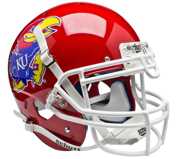 Kansas Jayhawks Scarlet Schutt XP Authentic NCAA Football Helmet