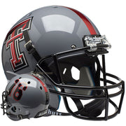 Texas Tech Red Raiders Gray 16 Schutt XP Replica Football Helmet