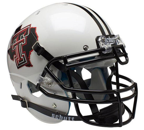 Texas Tech Red Raiders Pride White Schutt XP Authentic Football Helmet
