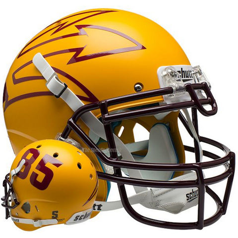 Arizona State Sun Devils Gold 85 Schutt XP Authentic Football Helmet