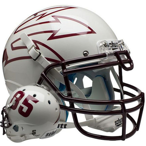 ASU Sun Devils White 85 Schutt XP Authentic Football Helmet