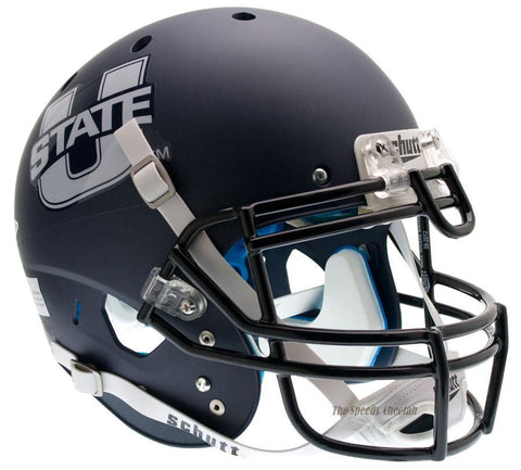 Utah State Aggies Navy Schutt XP Authentic Football Helmet